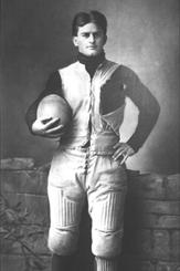 """Sturgeon Bay native, Eddie Cochems, was a football pioneer who is widely credited as being the """"father of the forward pass."""" Photo credit: UW-Madison, 1900."""