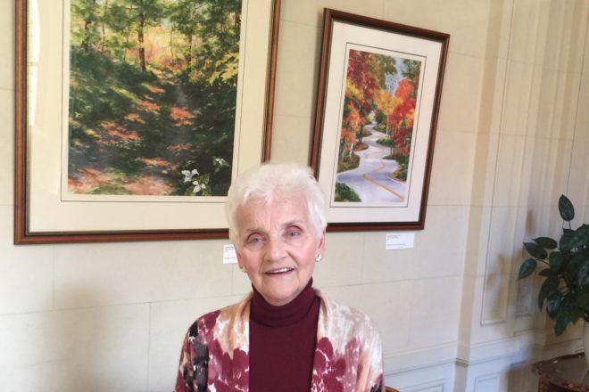 Glowacki Visits Her Art at U.S. Embassy
